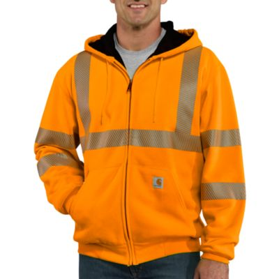 High-Visibility Zip-Front Class 3 Thermal-Lined Sweatshirt
