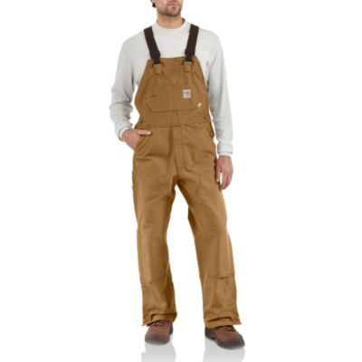 Flame-Resistant Duck Bib Overall/Unlined