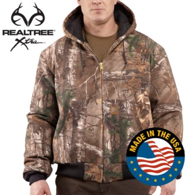 Quilted-Flannel-Lined Camo Active Jac