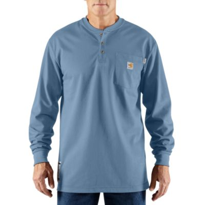 FR Force Cotton LS Henley