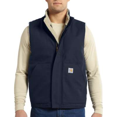 FR Mock Neck Sherpa Lined Vest